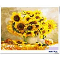 數字油畫  向日葵 蓬勃