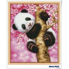 鑽石畫 櫻花熊貓