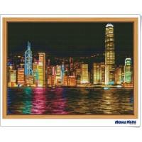 鑽石畫 香港夜景