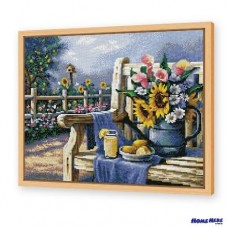 鑽石畫 椅上鮮花