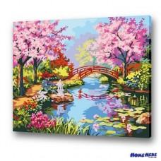數字油畫 鎌倉春色