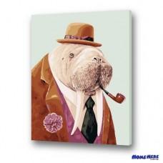 數字油畫 海象紳士