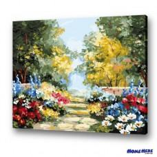 數字油畫 植物花園