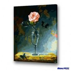 數字油畫 傲然玫瑰