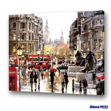 數字油畫 倫敦街頭一角