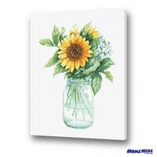 數字油畫 小清新 太陽花