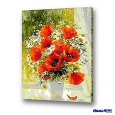 數字油畫  妖嬈罌粟花