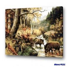 數字油畫 和諧森林