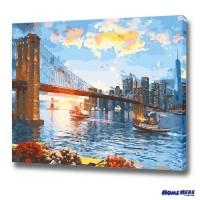 數字油畫 紐約布魯克林大橋