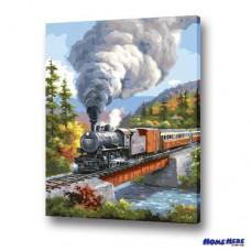 數字油畫 瑞士蒸汽火車