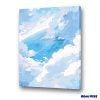 數字油畫 雲端的夢境 (獨家縮時淡彩畫布)