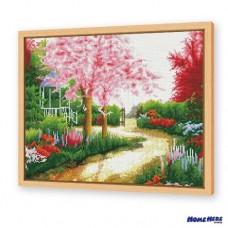 鑽石畫 庭園紅蔭