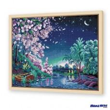 鑽石畫 紫嵐月曉