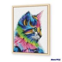 鑽石畫 可愛多彩貓
