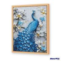 鑽石畫 浮雕藍孔雀