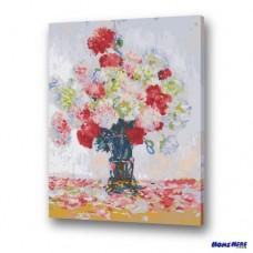數字油畫 莫內 牡丹花瓶