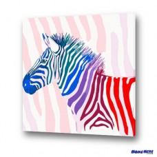 數字油畫 彩色斑馬