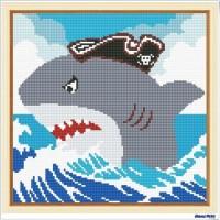 鑽石畫 鯊魚 (含內外框/環保包裝)
