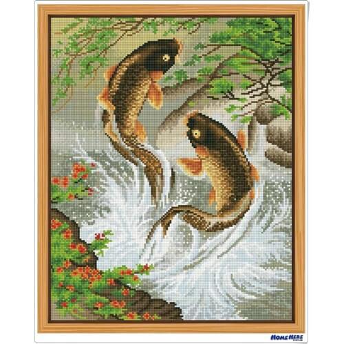 鑽石畫 魚躍龍門