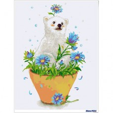 數字油畫 小白熊 預購款2019年5月出貨