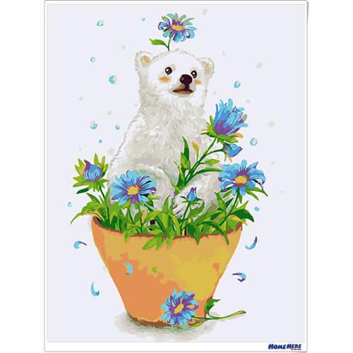 數字油畫 小白熊 預購款2019年3月出貨