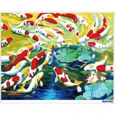 數字油畫 富貴錦鯉