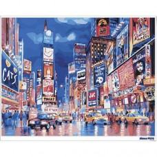 數字油畫 時代廣場 霓虹璀璨