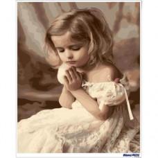 數字油畫 虔誠的祈禱