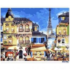 數字油畫 巴黎街頭