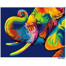 數字油畫 幻彩大象