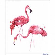 數字油畫 火烈鳥 情侶