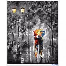 數字油畫 懷舊時光的情侶