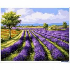 數字油畫 薰衣草 紫色暢想