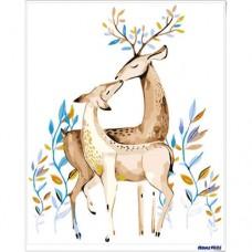 數字油畫 鹿鹿情深
