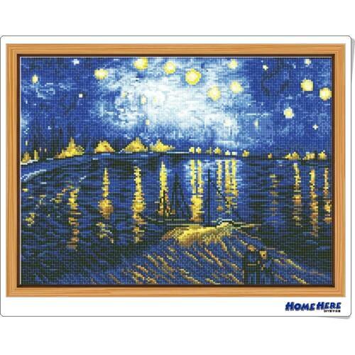 鑽石畫 梵谷 隆河的星夜