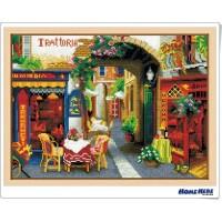鑽石畫 街邊童話 茶餐廳 (含內外框/環保包裝)