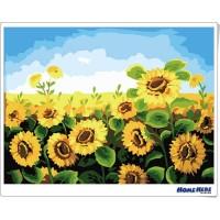 數字油畫 向日葵 綻放