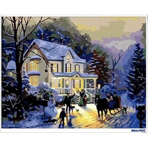 數字油畫 冬日浪漫 預購款 30-45天到貨