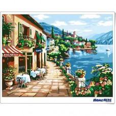 數字油畫 左岸小餐館