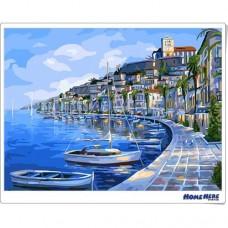 數字油畫 蔚藍海港