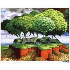 數字油畫 天空花園