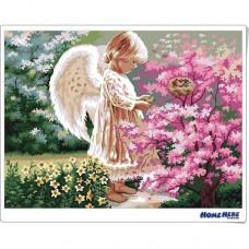 數字油畫 天使的憐愛