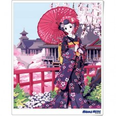 數字油畫 春遊清水寺