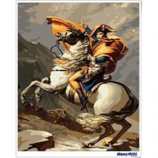 數字油畫 拿破崙 旗開得勝