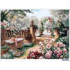 數字油畫 親子花園