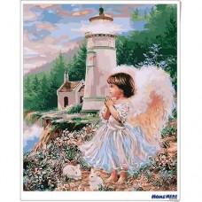 數字油畫 純潔天使