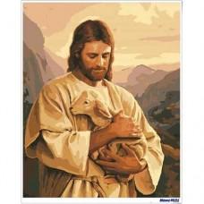 數字油畫 耶穌慈愛