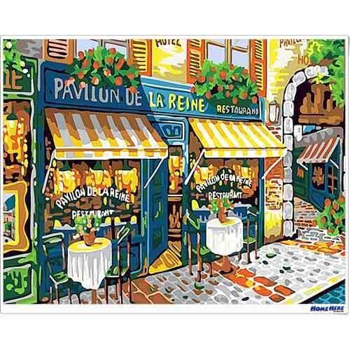 數字油畫 巴黎茶餐廳 預購款2019年3月出貨