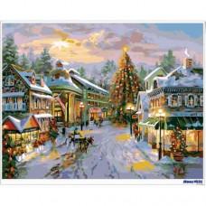 數字油畫 繁華聖誕