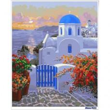 數字油畫 愛琴海假期